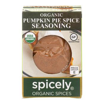 Spicely Organics - Organic Seasoning - Pumpkin Pie Spice - Case Of 6 - 0.35 Oz.