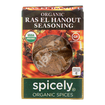 Spicely Organics - Organic Seasoning - Ras El Hanout - Case Of 6 - 0.4 Oz.