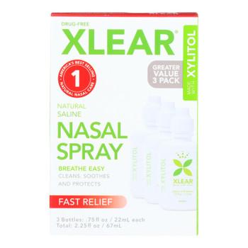 Xlear - Nasal Spray Sinus Economy - 3 Ct