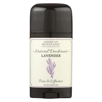 American Provenance - Deodorant - Lavender - 2.65 Oz.