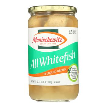 Manischewitz - All Whitefish Liquid - Case Of 12 - 24 Oz.
