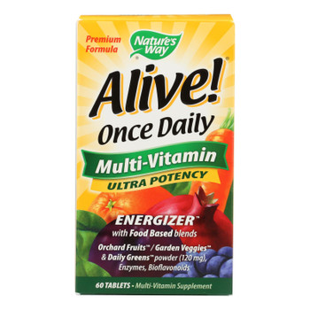 Nature's Way - Alive! Once Daily Multi-vitamin - Ultra Potency - 60 Tablets