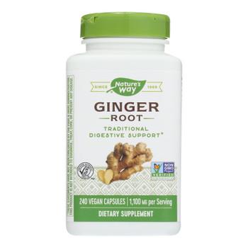 Nature's Way - Ginger Root - 240 Veg. Capsules