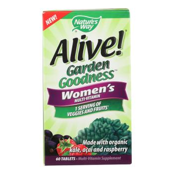 Nature's Way - Alive! Garden Goodness Women's Multi-vitamin - 60 Tablets