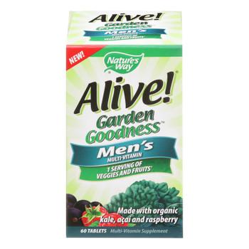 Nature's Way - Alive! Garden Goodness Men's Multi-vitamin - 60 Tablets