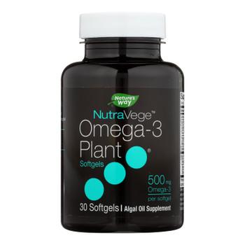 Nature's Way - Nutravege Omega-3 Plant Softgels - 30 Softgels