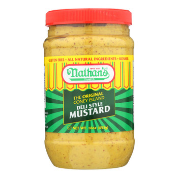 Nathan's Famous Mustard - Case Of 12 - 16 Oz