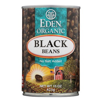Eden Organic Black Beans  - Case Of 6 - 15 Oz
