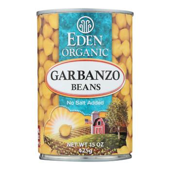 Eden Organic Garbanzo Beans  - Case Of 6 - 15 Oz