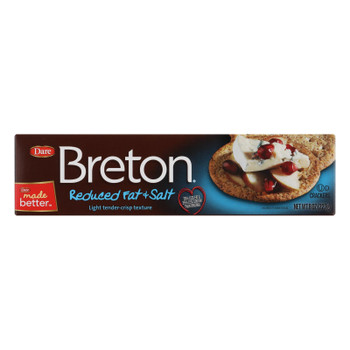 Breton/dare - Crackers - Reduced Fat And Reduced Salt - Case Of 12 - 8 Oz.