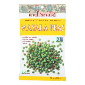 Indian Life Foods Masala Peas - Case Of 8 - 7 Oz