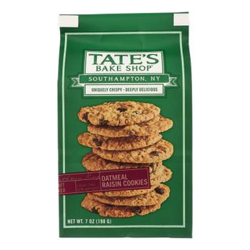 Tate's Bake Shop Oatmeal Raisin Cookies  - Case Of 12 - 7 Oz