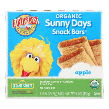 Earth's Best Sunny Days Apple Snack Bars - Case Of 6 - 5.3 Oz