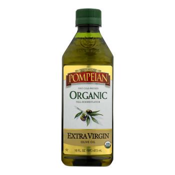 Pompeian Organic Extra Vigin Olive Oil - Case Of 6 - 16 Fz