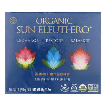 Organic Sun Eleuthero  - 1 Each - 240 Tab