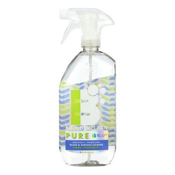 Boulder Clean Pure Herbal Peppermint Glass & Surface Cleaner  - Case Of 6 - 28 Fz