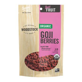Woodstock - Organic Goji Berries - Case Of 8 - 4 Oz.
