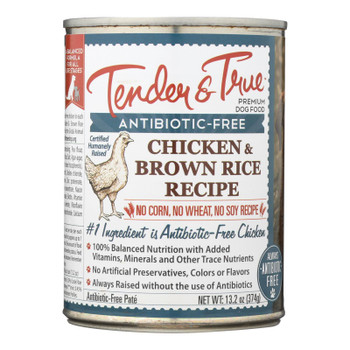 Tender & True Dog Food Chicken And Brown Rice - Case Of 12 - 13.2 Oz