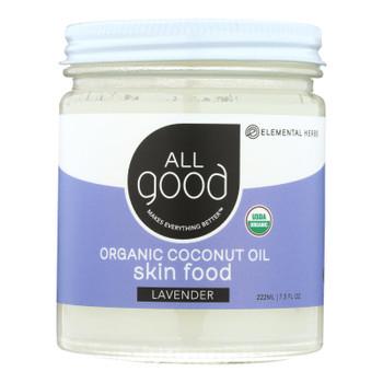Elemental Herbs - Oil Coconut Lavender Skin Fd - 1 Each - 7.5 Fz