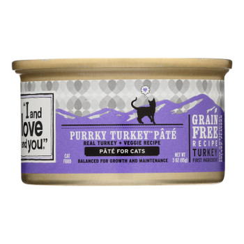 Natural Protein-rich Purrky Turkey Recipe Wet Cat Food  - Case Of 24 - 3 Oz
