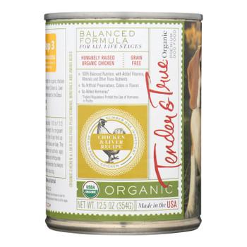 Tender & True Dog Food Chicken And Liver - Case Of 12 - 12.5 Oz