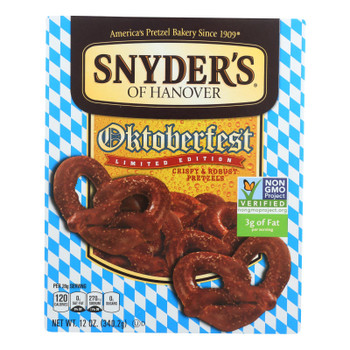 Snyder's Of Hanover - Pretzel Oktoberfest - Case Of 12 - 12 Oz