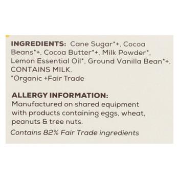 Theo Chocolates - Lemon Chocolate Bars - Case Of 12 - 3 Oz