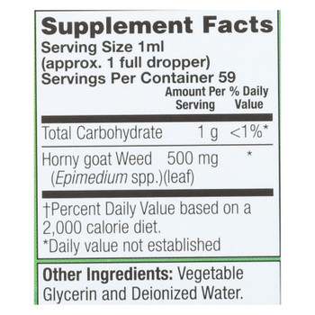 Natural Balance - Horny Goat Weed 500mg - 1 Each - 2 Fz