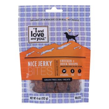 I And Love And You - Dog Treats Jrky Chkn&duck - Case Of 6 - 4 Oz