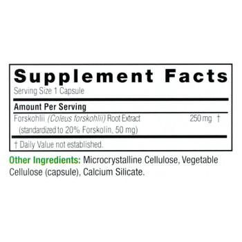 Nature's Answer Forskohlii Full Spectrum Herb Dietary Supplement  - 1 Each - 60 Vcap