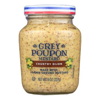 Grey Poupon Mustard Country Dijon  - Case Of 12 - 8 Oz