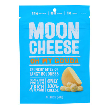 Moon Cheese Gouda Dehydrated Cheese Snack  - Case Of 12 - 2 Oz