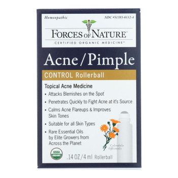Forces Of Nature Acne/pimple Rollerball Applicator  - 1 Each - 4 Ml