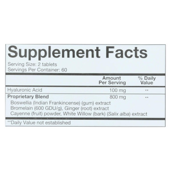 One Serving Size Of Youtheory Hyaluronic Acid Advanced  - 1 Each - 120 Tab