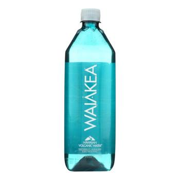 Waiakea Naturally Alkaline Hawaiian Volcanic Bottled Water  - Case Of 12 - 33.8 Fz