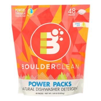 Boulder Clean Power Packs Natural Dishwasher Detergent Effectively  - Case Of 6 - 1.8 Lb