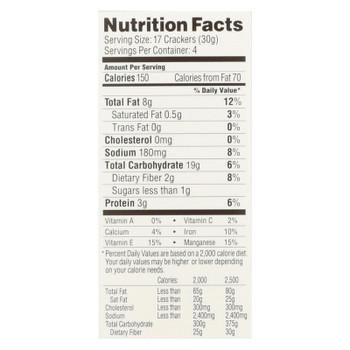 Simple Mills Cracked Black Pepper Almond Flour  - Case Of 6 - 4.25 Oz