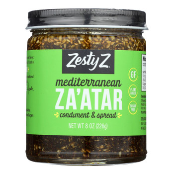 Zesty Z Mediterranean Za'atar Condiment & Spread  - Case Of 6 - 8.11 Oz
