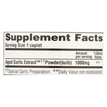 Kyolic - Aged Garlic Extract One Per Day Cardiovascular - 1000 Mg - 30 Caplets