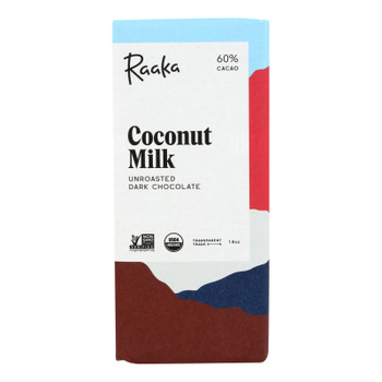 Raaka's Coconut Milk Chocolate Bar  - Case Of 12 - 1.8 Oz