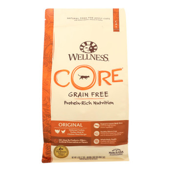 Wellness Pet Products - Cat Original Turkey & Chicken Meal - Case Of 4 - 5 Lb