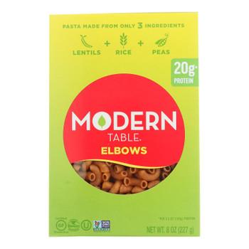Modern Table's Lentil Elbows Pasta  - Case Of 6 - 8 Oz