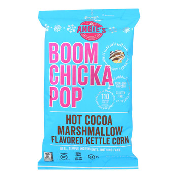 Angie's Kettle Corn - Boom Chicka Pop - Flavored Kettle Corn - Hot Cocoa Marshmellow - Case Of 12 - 4.5 Oz.
