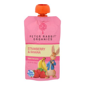 Peter Rabbit Organics Fruit Snacks - Strawberry And Banana - Case Of 10 - 4 Oz.