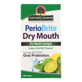 Nature's Answer Periobrite Lemon-lime Mint Flavored Dry Mouth Oral Probiotics  - 1 Each - 100 Ct