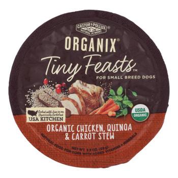 Castor & Pollux Wet Dog Food Organix Tiny Feasts Chicken Quinoa & Carrot Stew  - Case Of 12 - 3.5 Oz