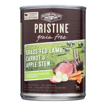 Castor & Pollux Wet Dog Food Pristine Grain-free Grass-fed Lamb Carrot & Apple Stew  - Case Of 12 - 12.7 Oz