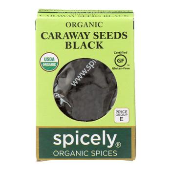 Spicely Organics Caraway Seeds Black (nigella)  - Case Of 6 - .35 Oz