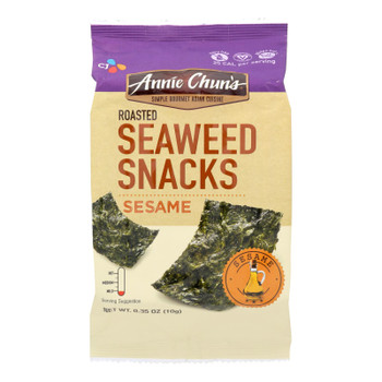 Annie Chun's Seaweed Snacks Roasted Sesame - Case Of 12 - 0.35 Oz.