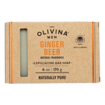 Olivina Men - Exfol Soap Ginger Beer - 1 Each - 6 Oz